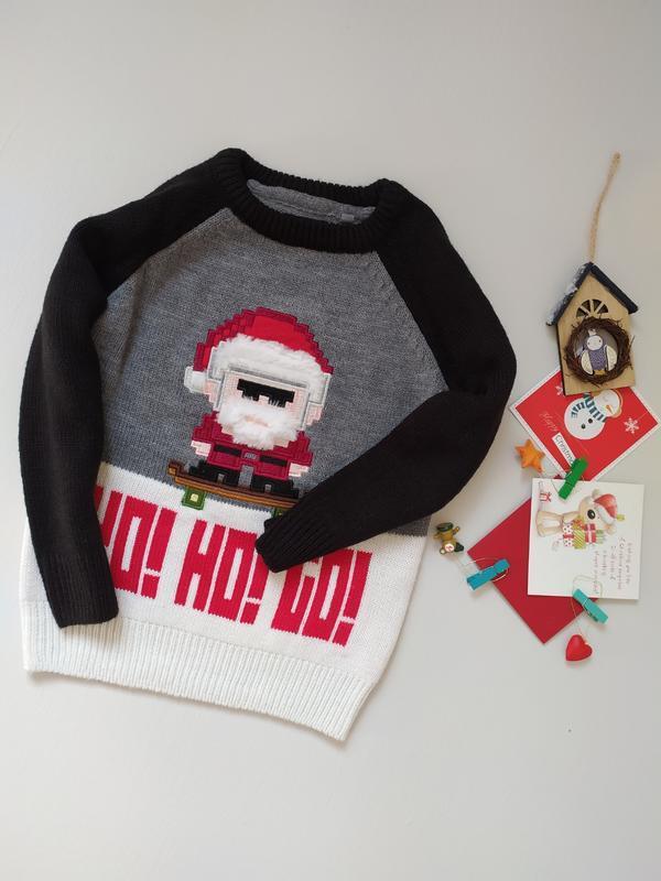 🎅 новогодний свитер с дедом морозом от next