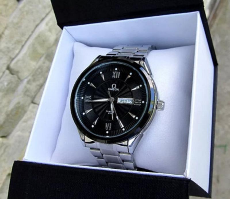 Кварцевые мужские наручные часы. Часы в стиле Omega