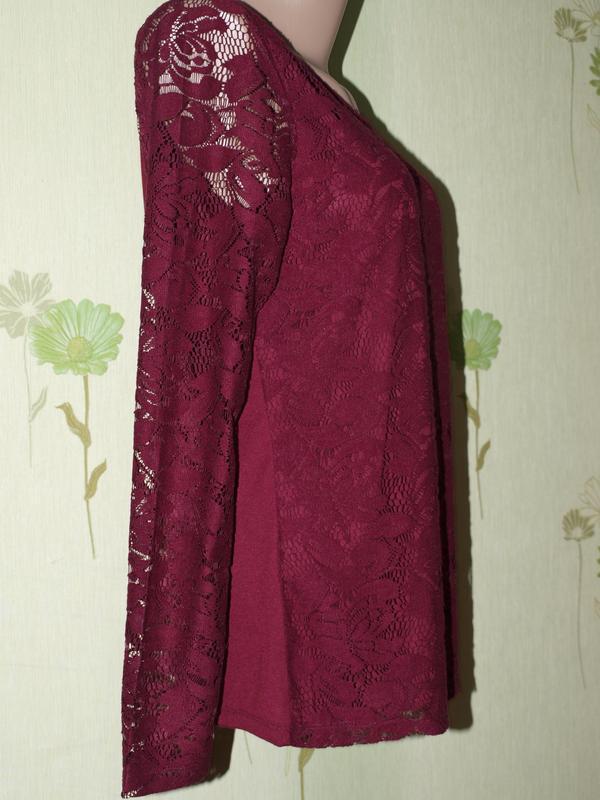 Шикарная кружевная кофточка, реглан,трикотажная блуза,-s- m-l ...