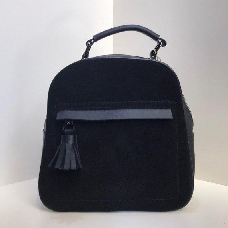 Женский замшевый маленький рюкзак-трансформер