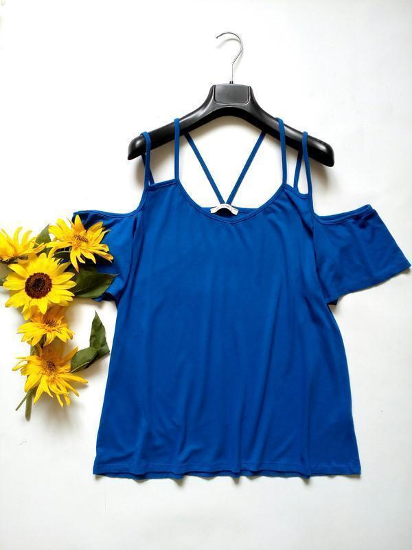 Яркая трикотажная блуза футболка 16 george