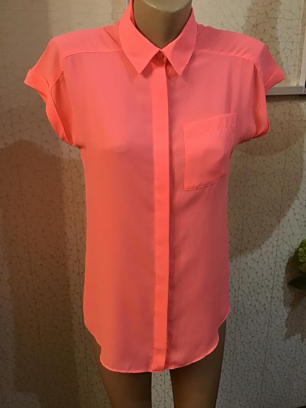 Неоновая розовая блуза/яркая блуза