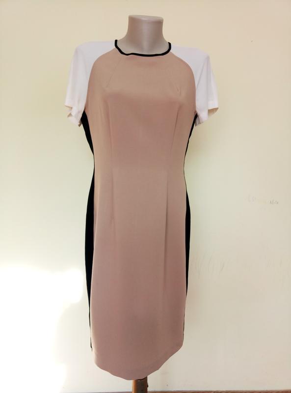 Красивое комбинированное платье