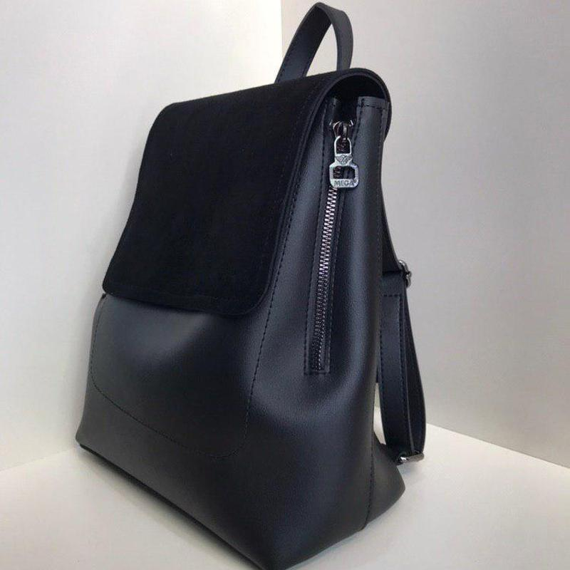 Женский замшевый рюкзак-трансформер