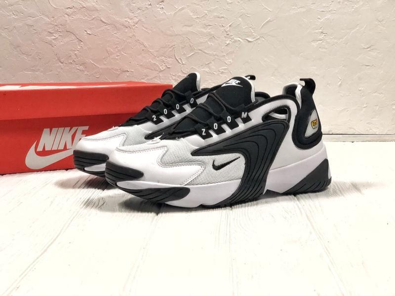 Шикарные мужские кроссовки nike zoom 2k black white