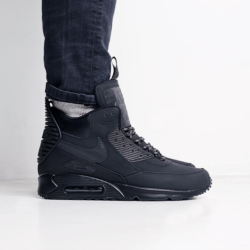 """Nike air max 90 sneakerboot winter """"triple black"""" мужские крос..."""