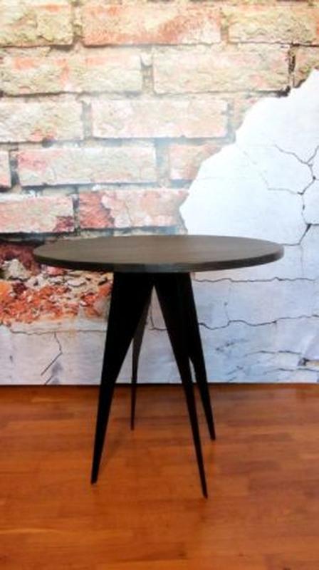 Стол журнальный кофейный из натурального дерева в стиле лофт