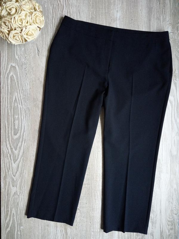 Темно синие брюки bonmarche р16, можно как укороченные