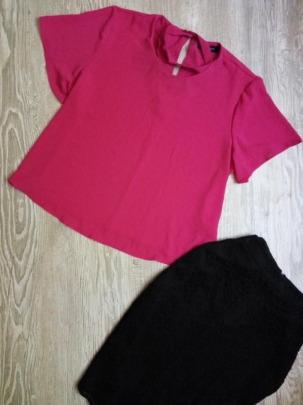 Яркая малиновая блузка с чокером atmosphere размер 16
