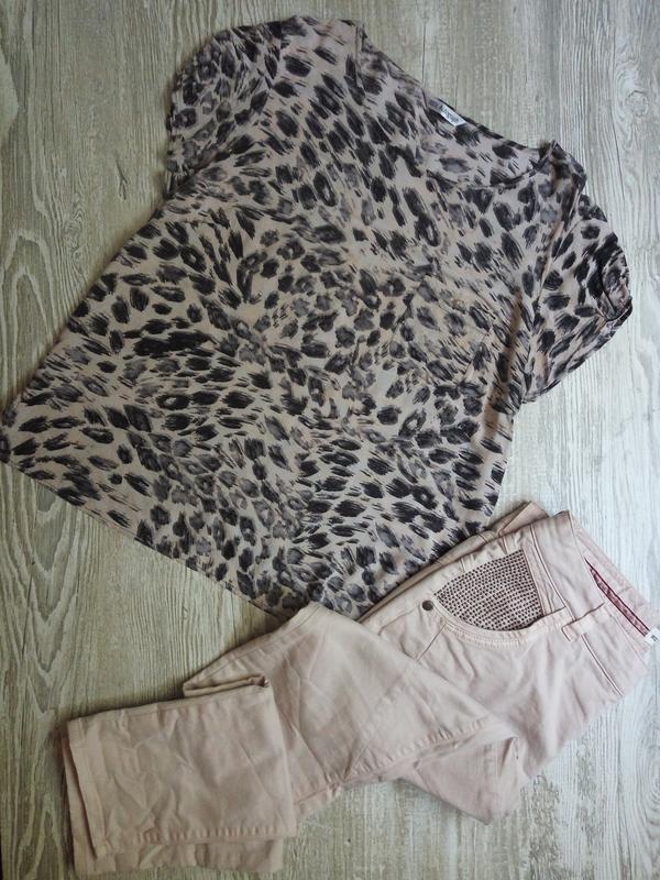 Легкая натуральная блузка m&s размер 16