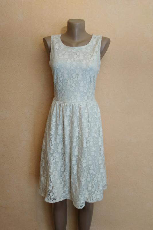 Кружевное платье цвета шампань atmosphere размер 12