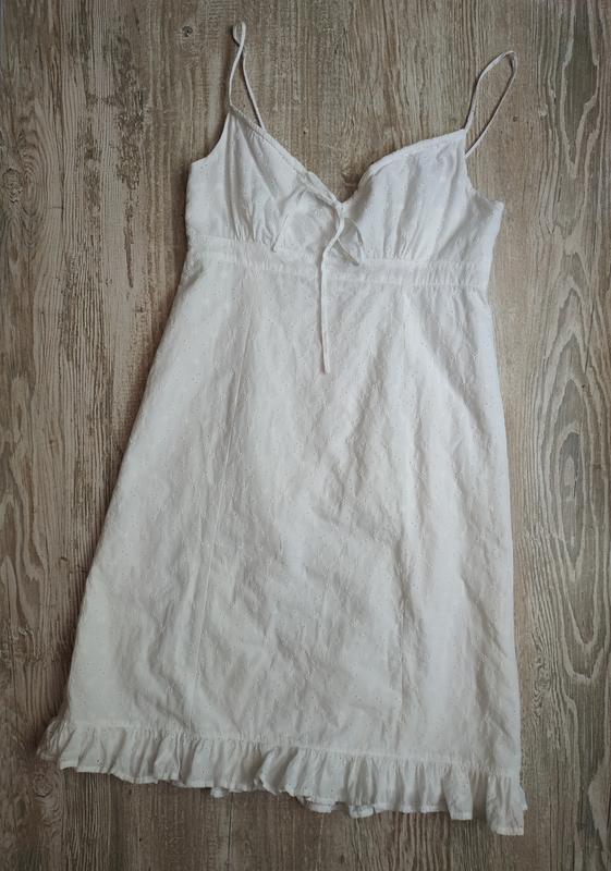 Хлопковое платье с перфорацией bhs размер 14