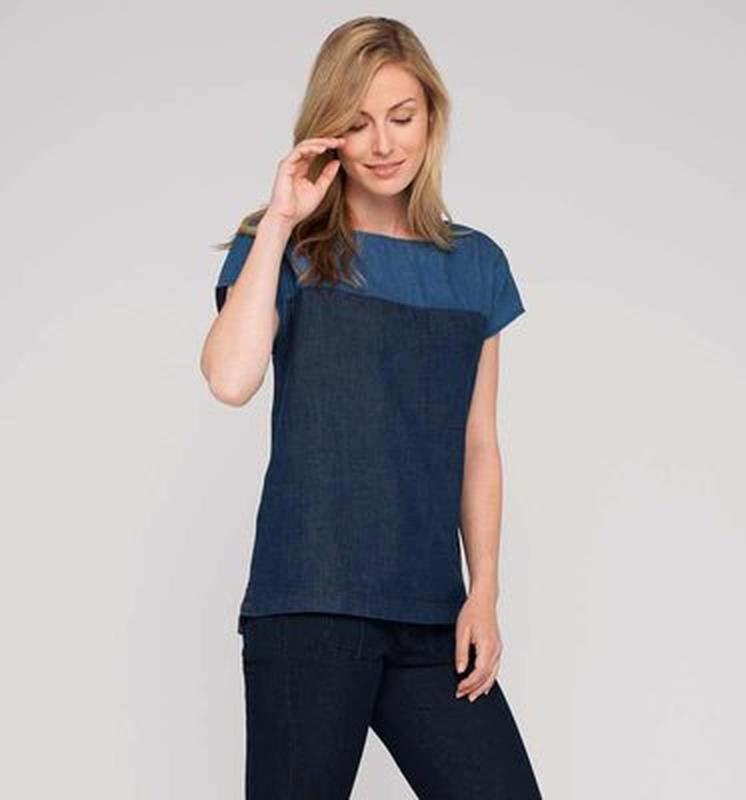 Трендовая джинсовая блузка c&a размер s, можно m