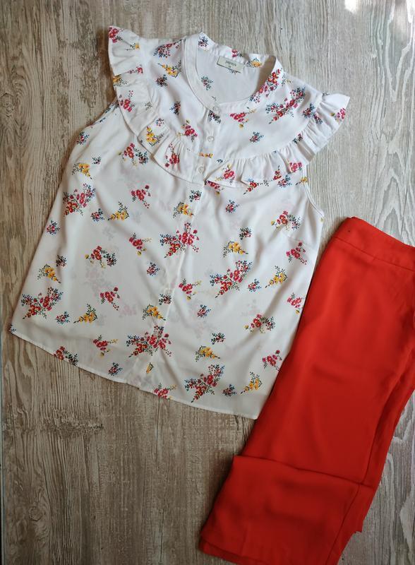 Нежная блузка в цветочный принт papaya размер 20