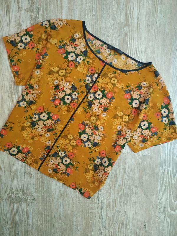 Горчичная блузка свободного кроя m&s размер 14