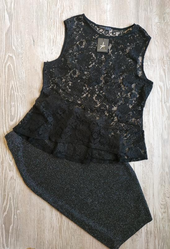Кружевная блузка с баской atmosphere размер 16-18