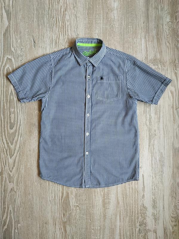 Стильная рубашка в мелкую клетку rebel на мальчика 11-12 лет