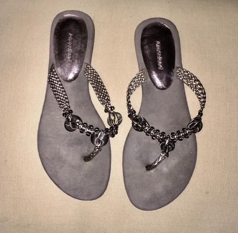 ❤️летние шлёпанцы без каблука серые