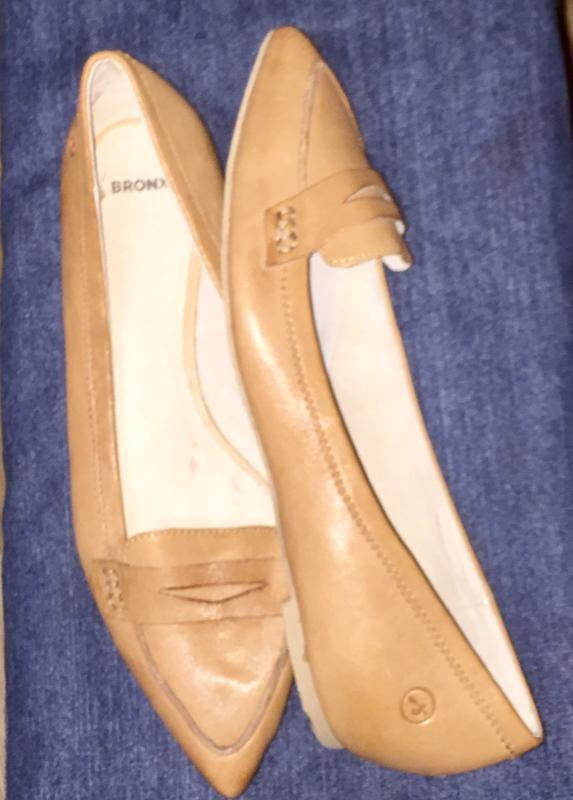 Легкие летние туфли балетки  лодочки без каблука с зауженным н... - Фото 3