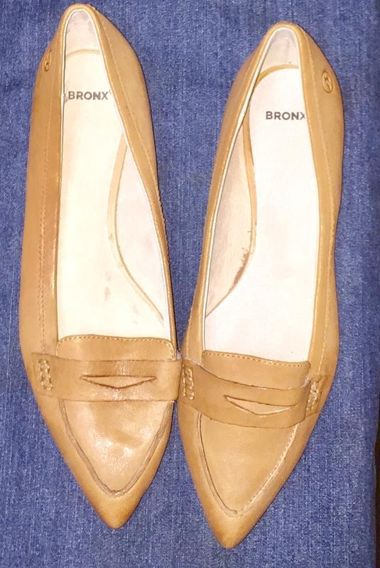 Легкие летние туфли балетки  лодочки без каблука с зауженным н... - Фото 4