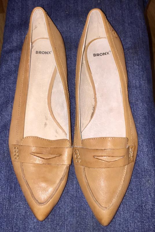 Легкие летние туфли балетки  лодочки без каблука с зауженным н... - Фото 5
