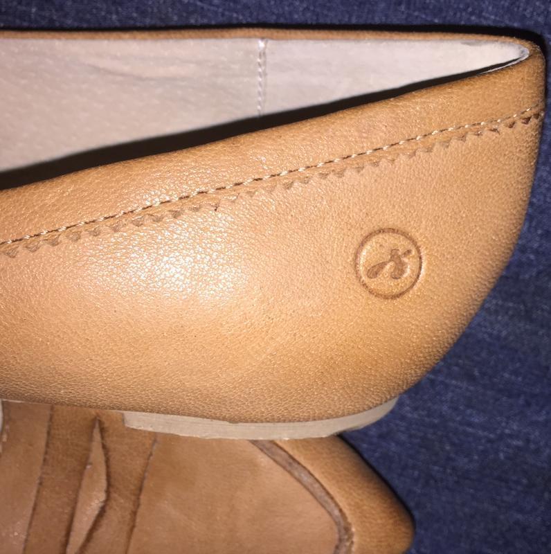 Легкие летние туфли балетки  лодочки без каблука с зауженным н... - Фото 6