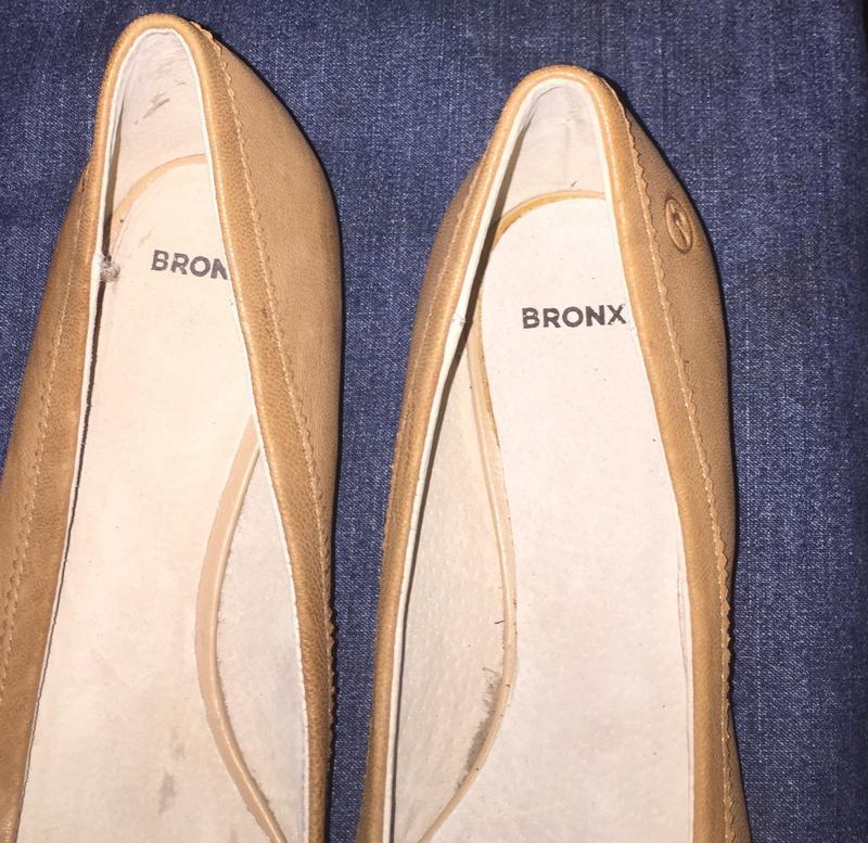 Легкие летние туфли балетки  лодочки без каблука с зауженным н... - Фото 8
