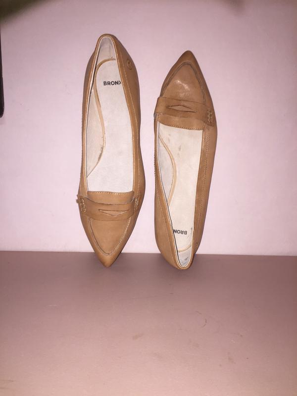 Легкие летние туфли балетки  лодочки без каблука с зауженным н... - Фото 9