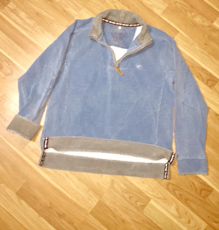 Мужская толстовка свитшот  серо- голубого цвета fat face оригинал