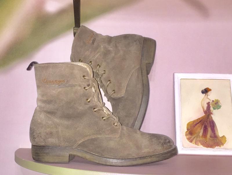 Ботинки из натуральной кожи ( замши)каблуке  от napapijri - Фото 2