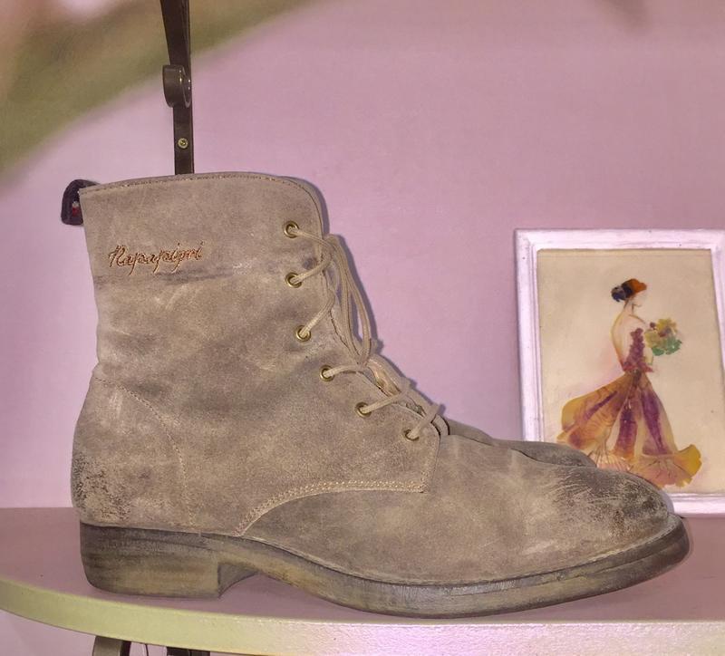 Ботинки из натуральной кожи ( замши)каблуке  от napapijri - Фото 3