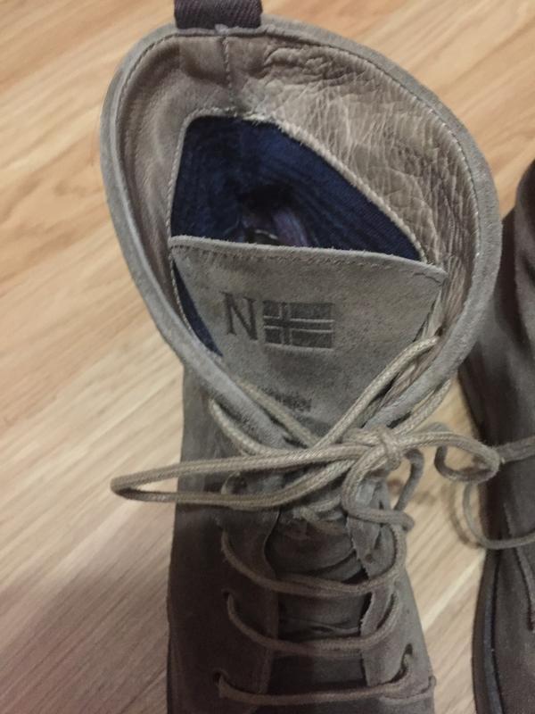Ботинки из натуральной кожи ( замши)каблуке  от napapijri - Фото 4