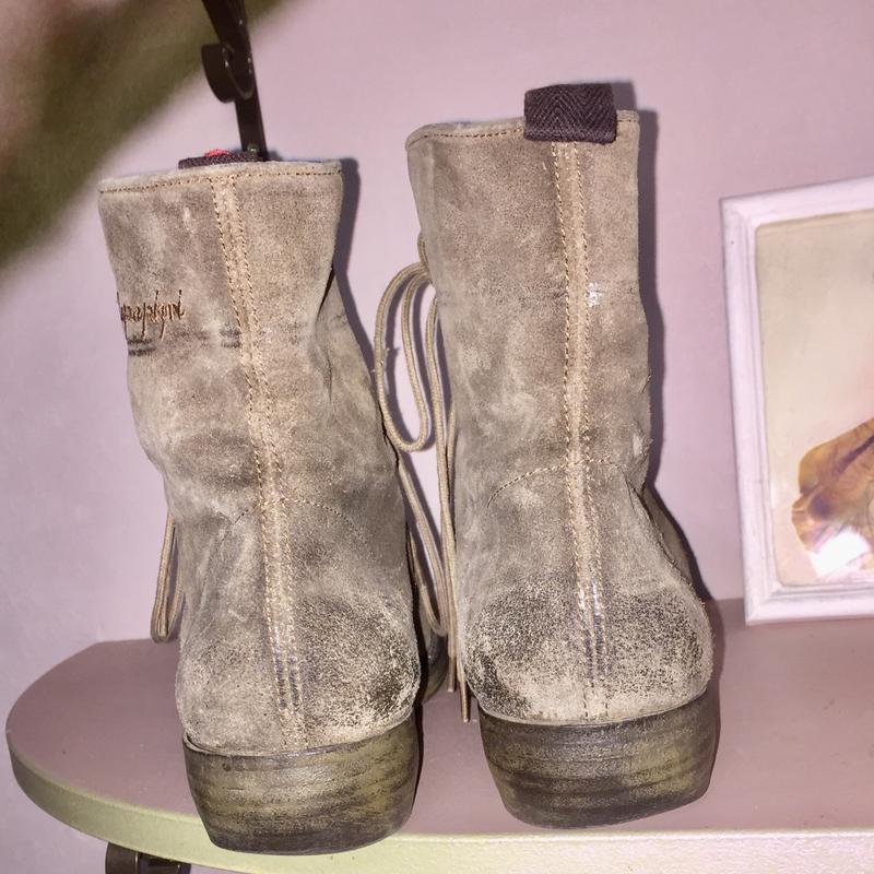 Ботинки из натуральной кожи ( замши)каблуке  от napapijri - Фото 5