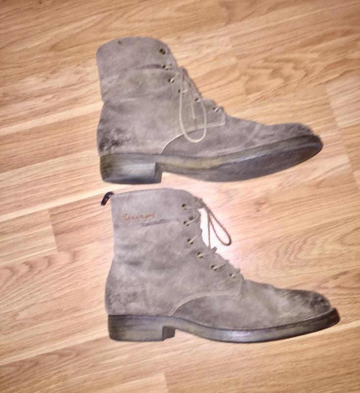 Ботинки из натуральной кожи ( замши)каблуке  от napapijri - Фото 6
