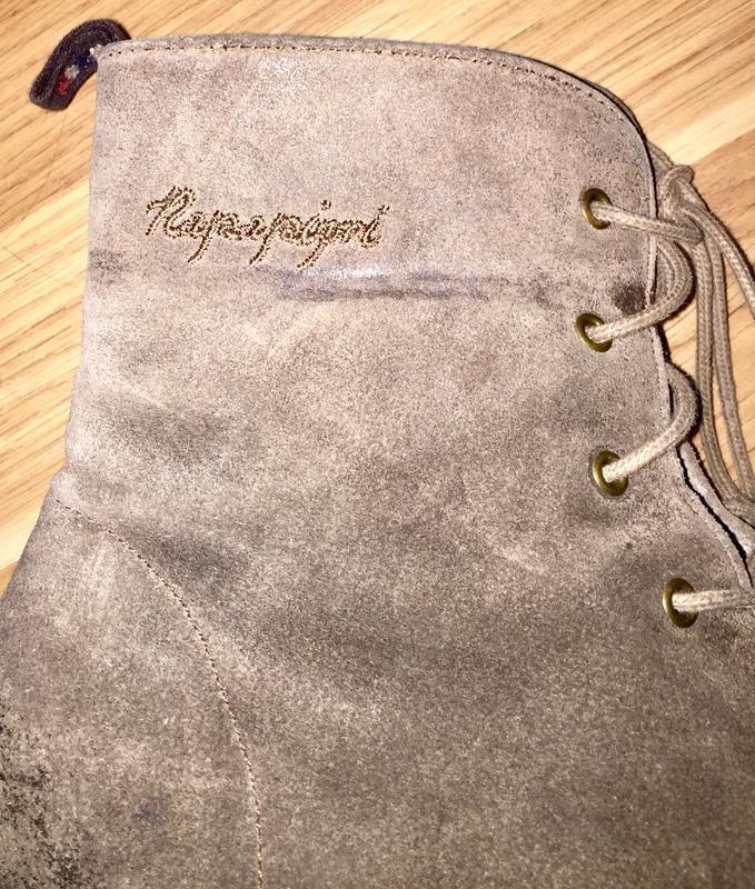 Ботинки из натуральной кожи ( замши)каблуке  от napapijri - Фото 7