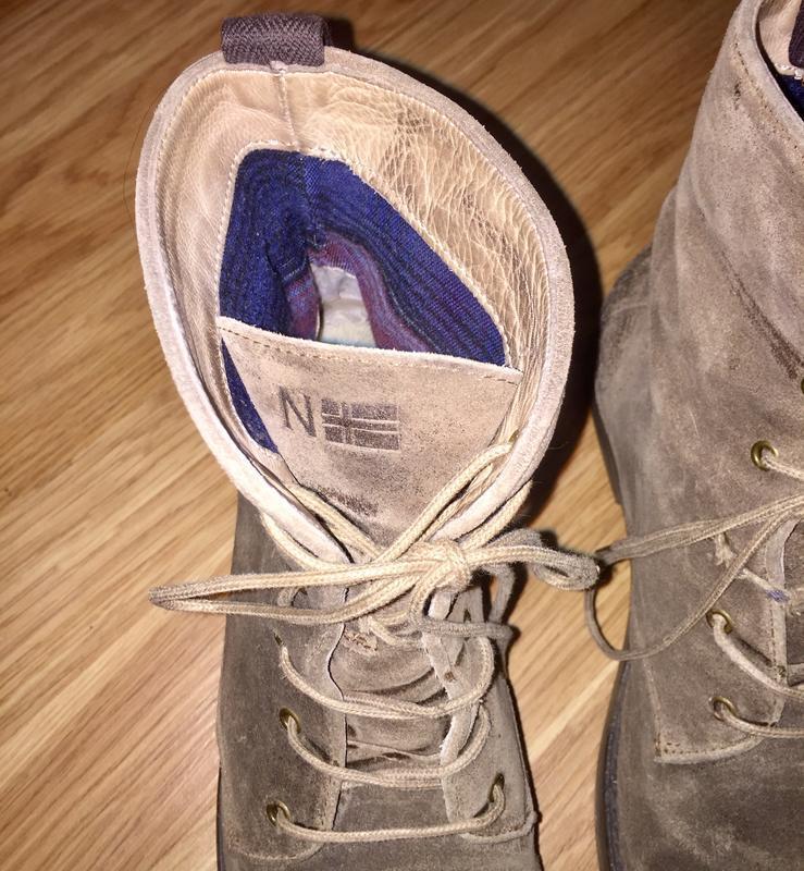 Ботинки из натуральной кожи ( замши)каблуке  от napapijri - Фото 9