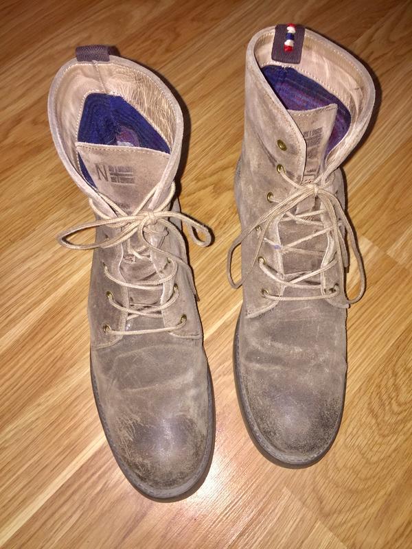 Ботинки из натуральной кожи ( замши)каблуке  от napapijri - Фото 10