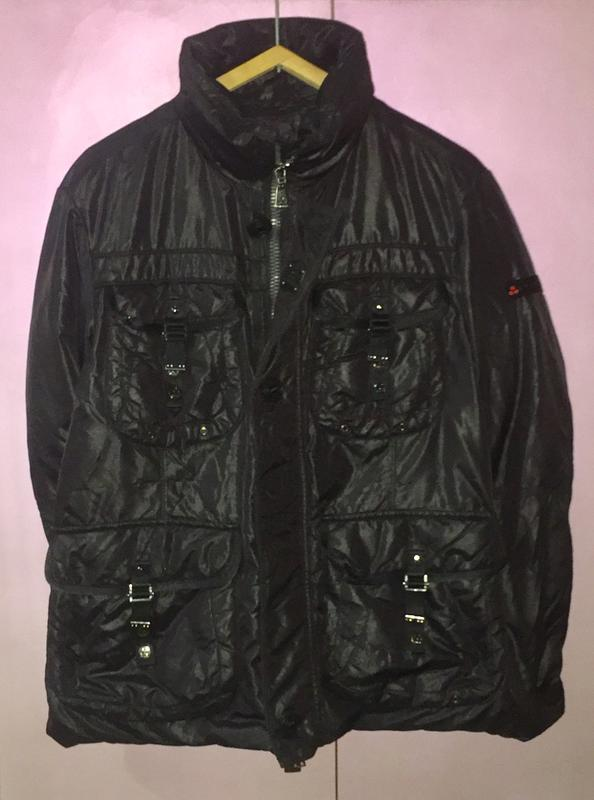 Зимняя тёплая мужская куртка пуховик мужской; гусиный пух италия