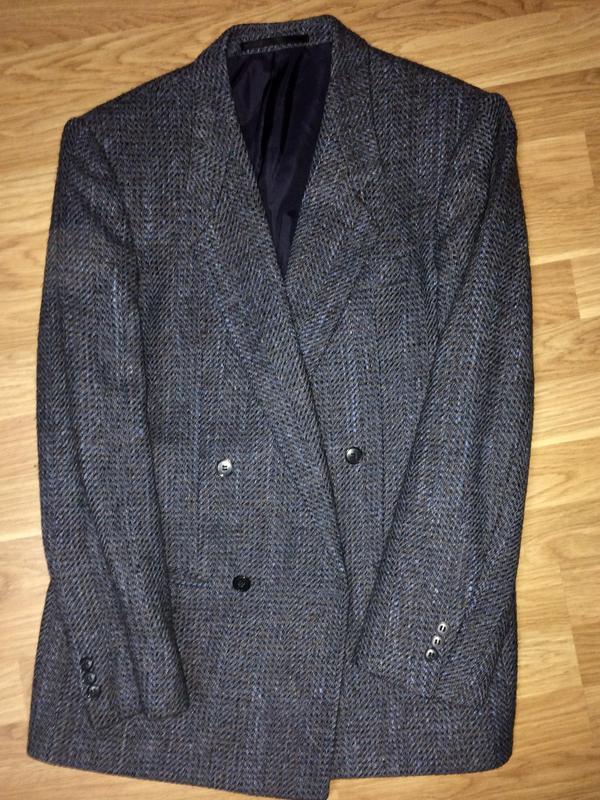 Мужской пиджак двубортный шерсть альпаки