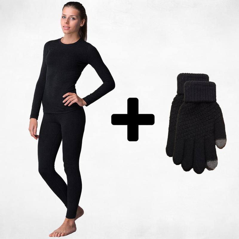 Комплект 😉 термобелье + сенсорные перчатки 🤗🏂