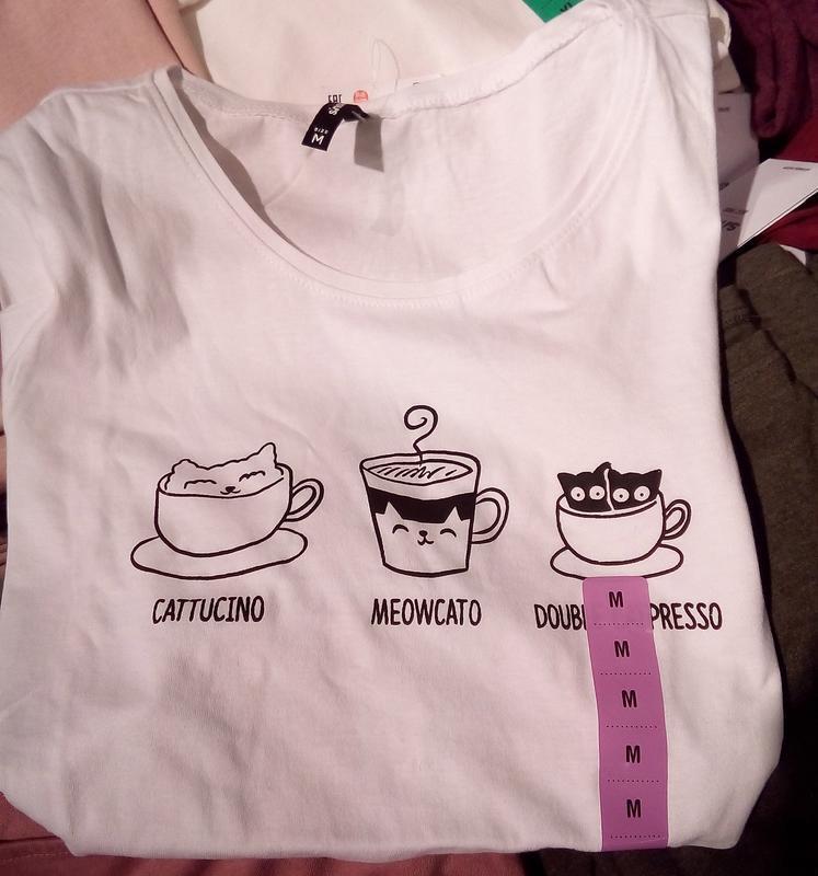 Новая длинная облегающая белая футболка польша принт кот кошка...