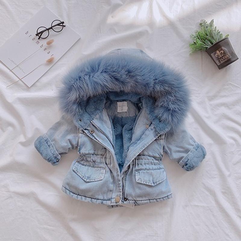 Стильная джинсовая парка куртка на меху