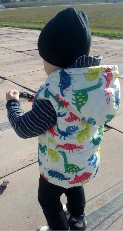 жилетка динозавр 2-3 года
