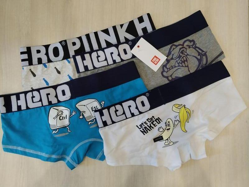 Комплект (4 шт) мужского нижнего белья pink hero - Фото 8