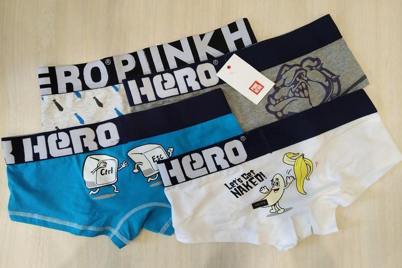Комплект (4 шт) мужского нижнего белья pink hero - Фото 9