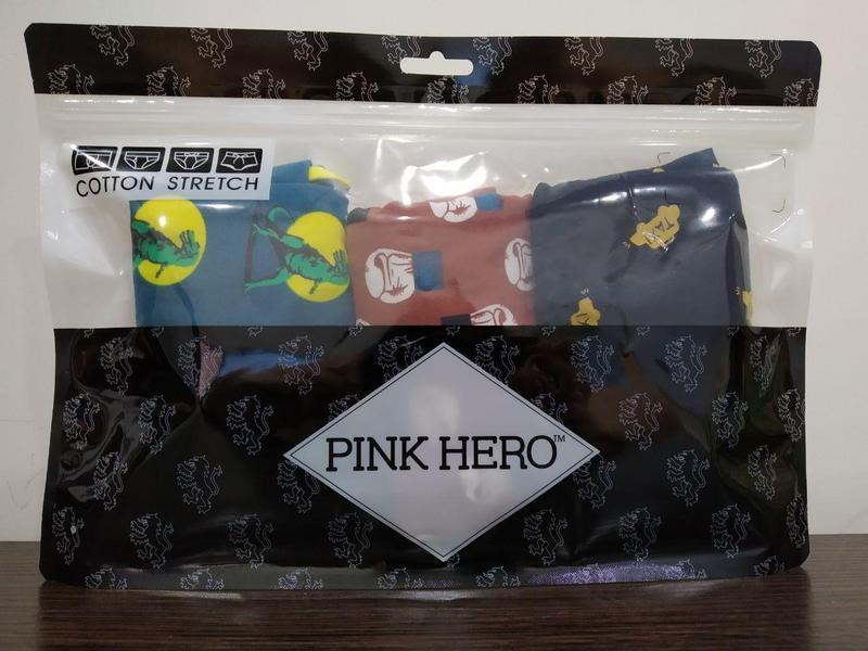 Комплект (3 шт) мужского нижнего белья pink hero