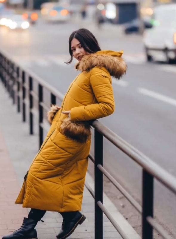Зимняя удлиненная куртка расцветки