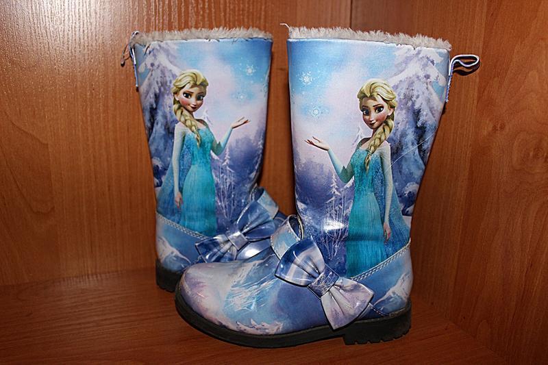 Зимние сапоги ботинки фрозен эльза