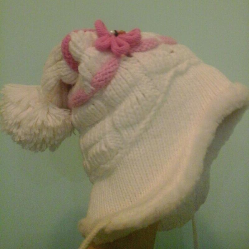Зимняя шапка с бликами люрекса, толст.флис, р.46-56