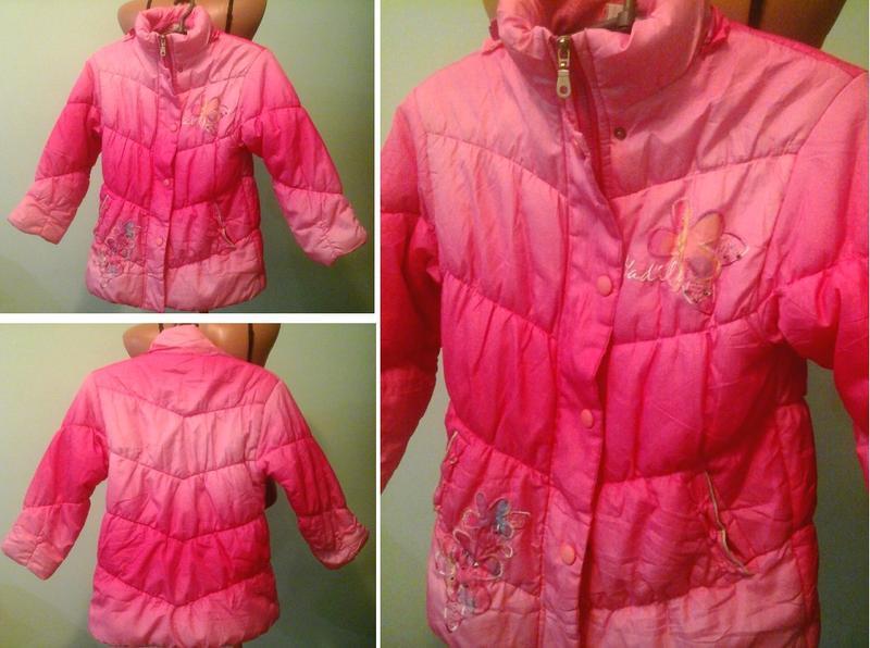 Куртка девочке, на синтепоне, флис, см.замеры